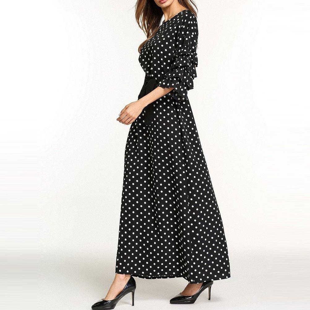 62e3251c915 Zhuhaitf Doux Beau Islamique Vêtements Longue Robe Maxi Boho Kaftan Boho  Noir Abayas pour Femmes Dubai