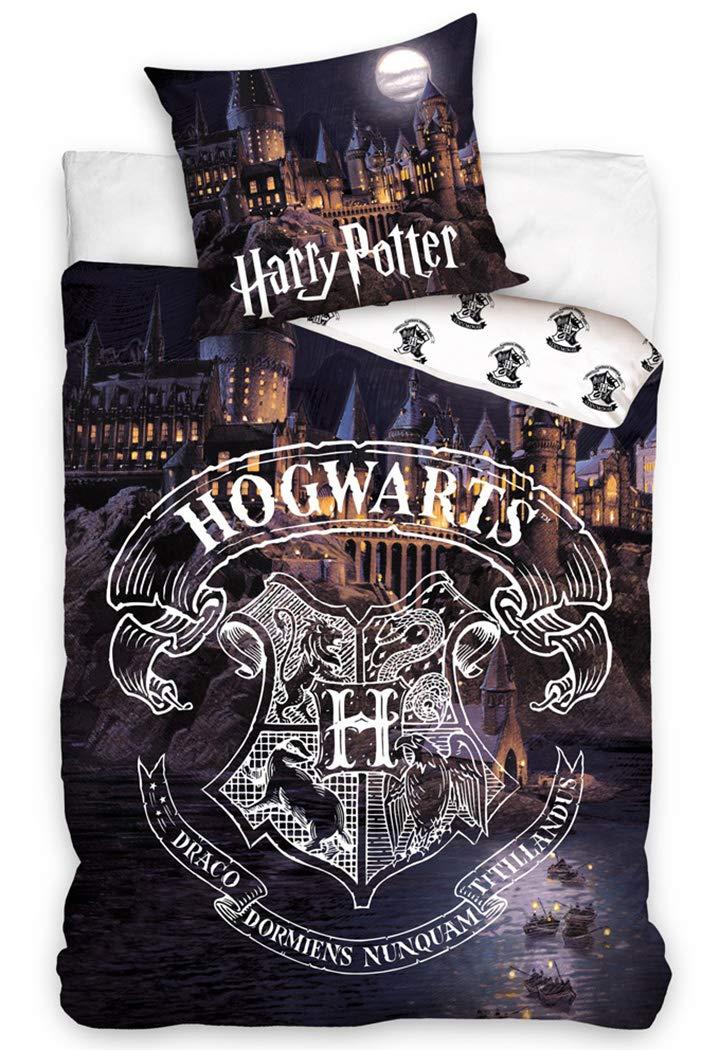 Harry Potter Juego de Funda n/órdica Funda de Almohada de 150 x 210 cm Algod/ón de 50 x 60 cm