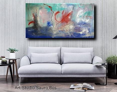 quadri astratti moderni 200x100 per soggiorno sala da pranzo cucina ...