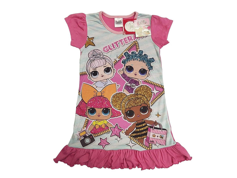 L.O.L Surprise Kinder Nachthemd Freizeitkleid rosa M/ädchen mit Motiv der LOL-Figuren