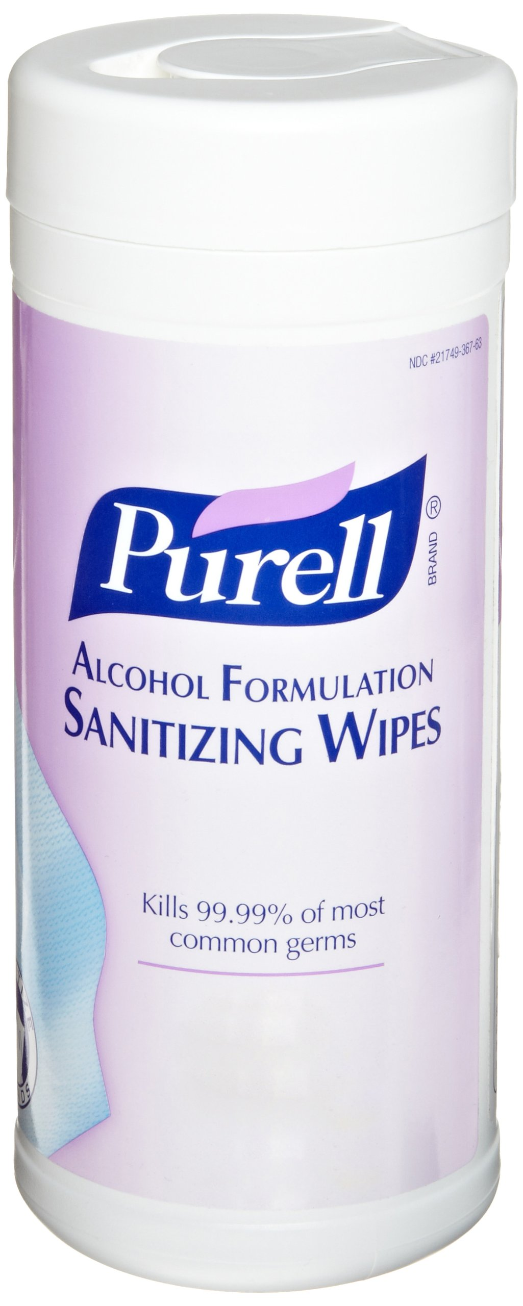 PURELL Hand Sanitizer Wipes Alcohol Formula, Fragrance Free, 80 Count Durable Non-Linting Wipes Canisters (Case of 12) - 9030-12