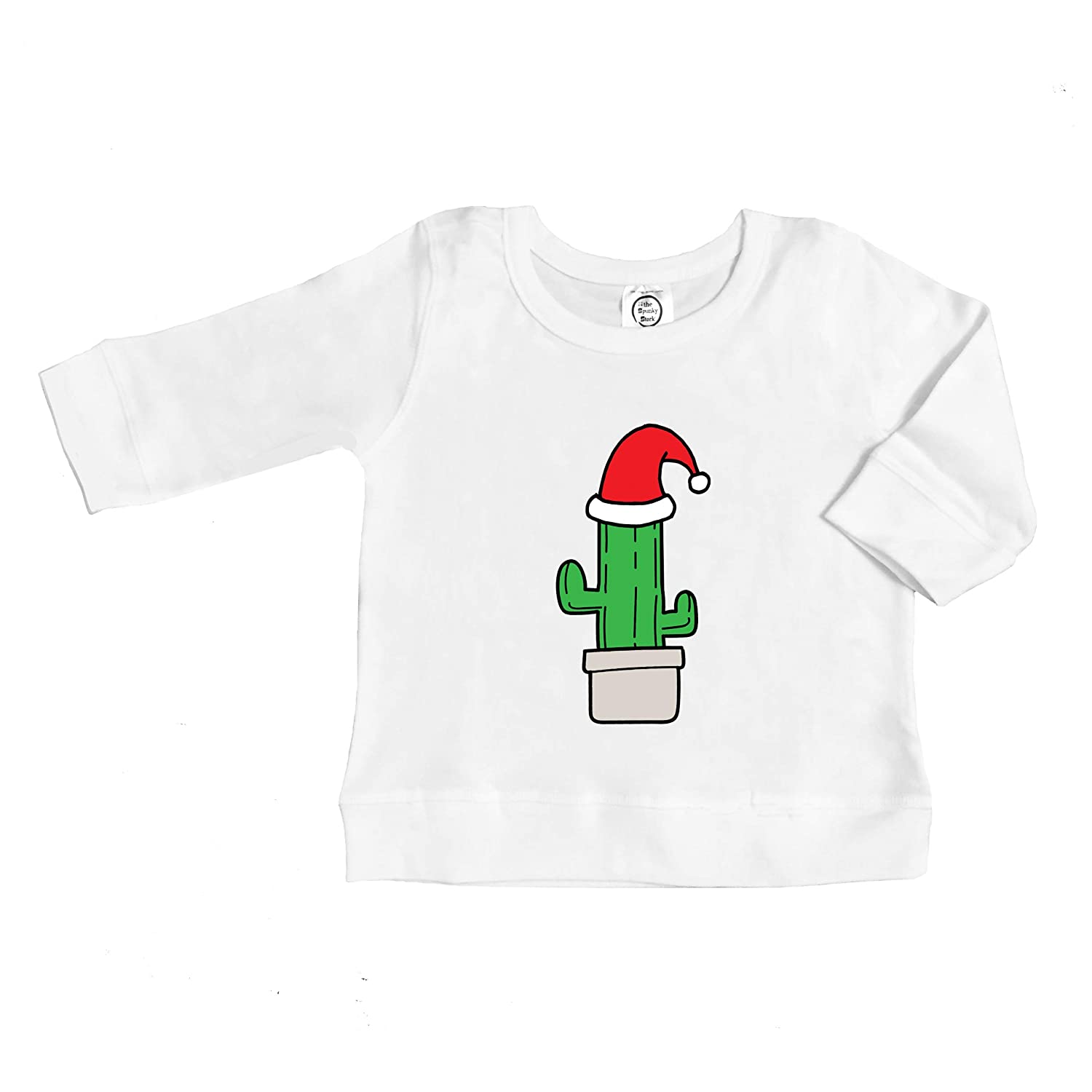 The Spunky Stork Christmas Cactus Organic Cotton Baby Toddler Long Sleeve Pullover Shirt
