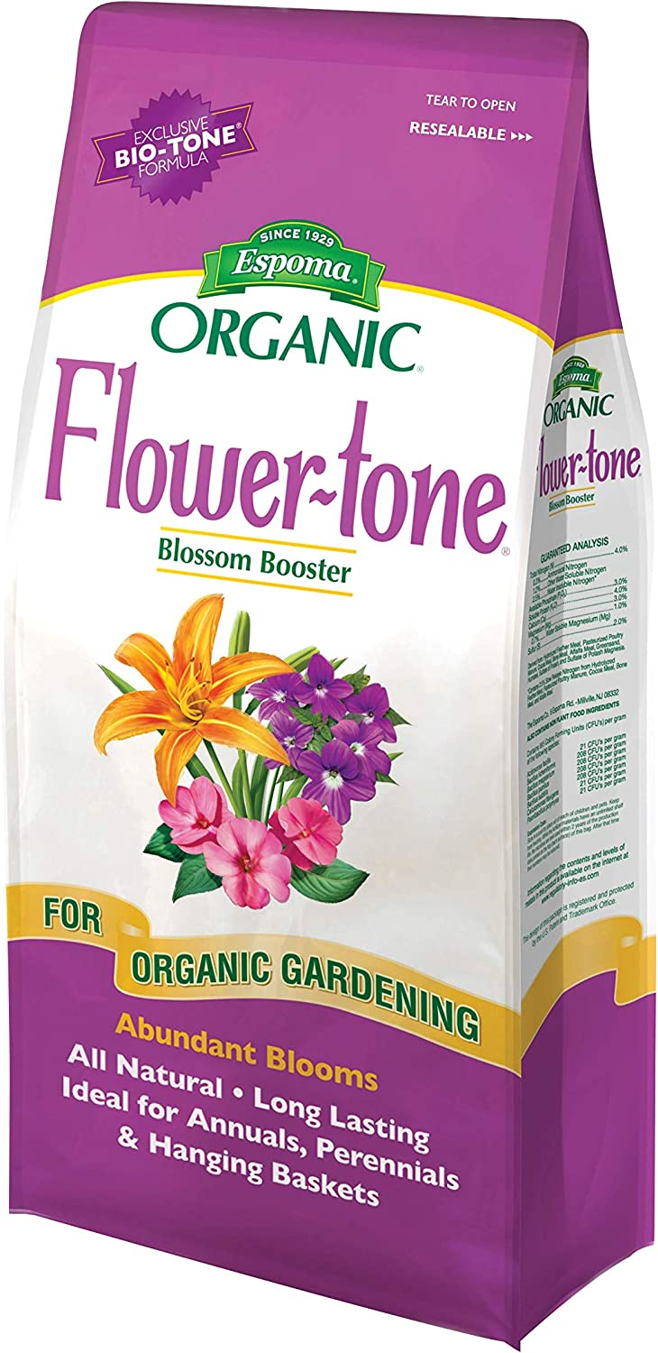 Espoma FT4 4-Pound Flower-tone 3-4-5 blossom booster Plant Food,Multicolor