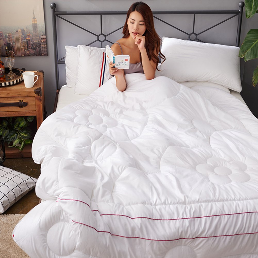 DW&HX Antarctica quilts air-conditioned winter quilt,Padded warm quilts-White 150x200cm(59x79inch) QQDE