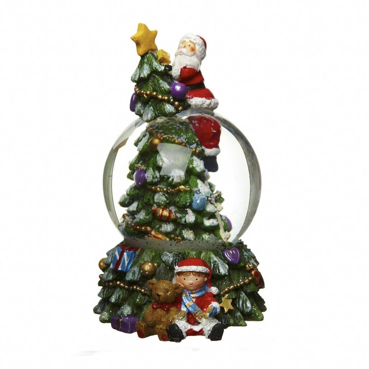 Christmas Tree Water Globe Ornament by Heaven Sends, 21.0000