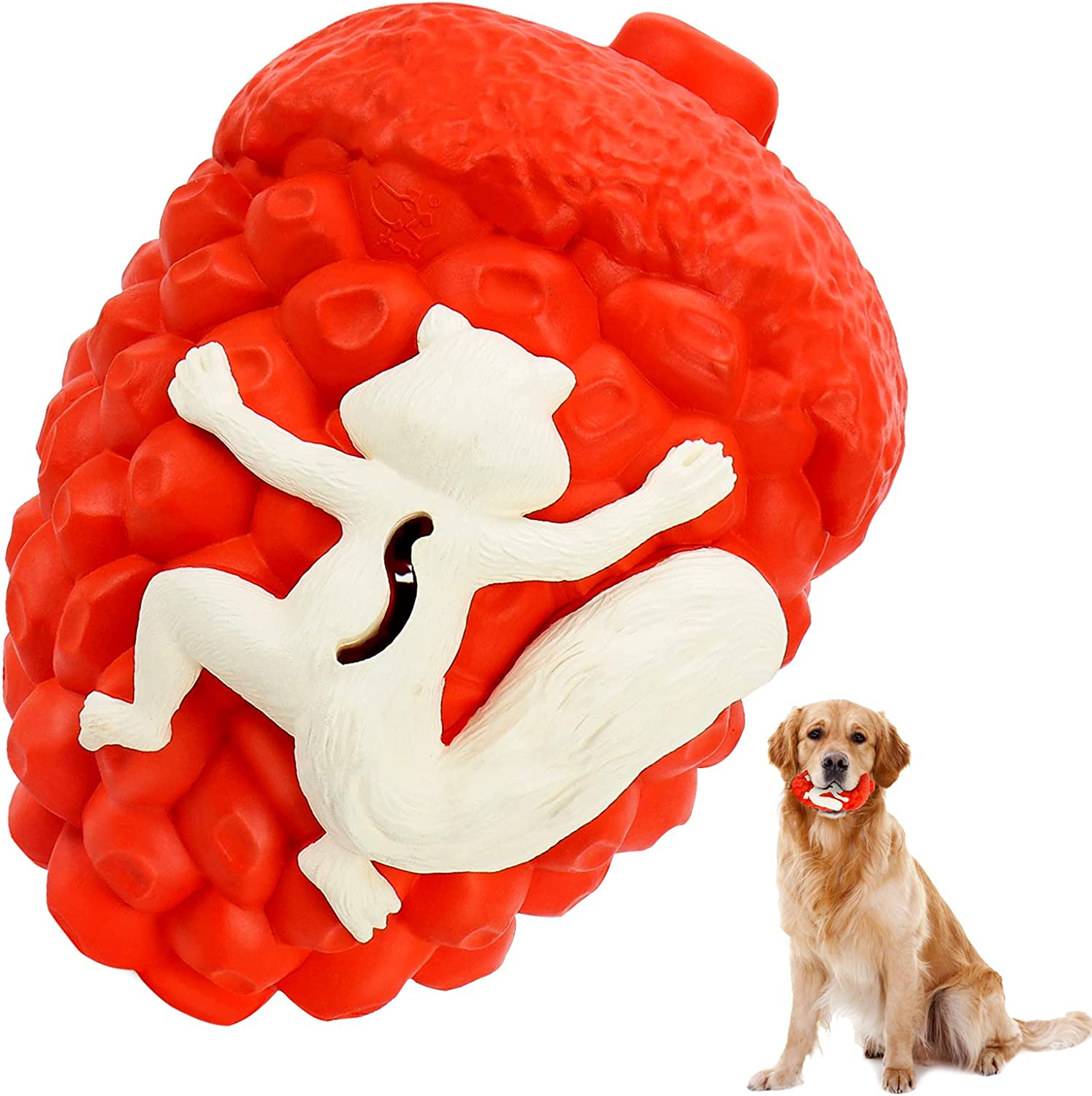Dog Toys for Aggressive Chewers Large Breed, Indestructible Dog Toys for Large Medium Dogs, Tough Dog Dental Chews Toys, 100% Natural Rubber Food Dispensing Dog Puzzle Toys