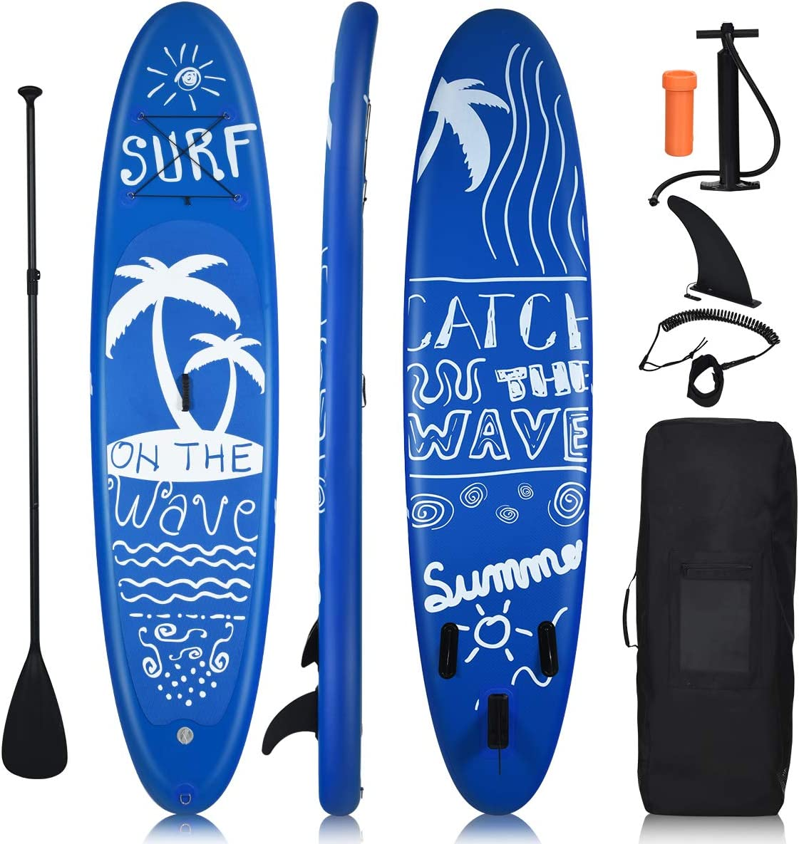 goplus inflatable paddle board bundle