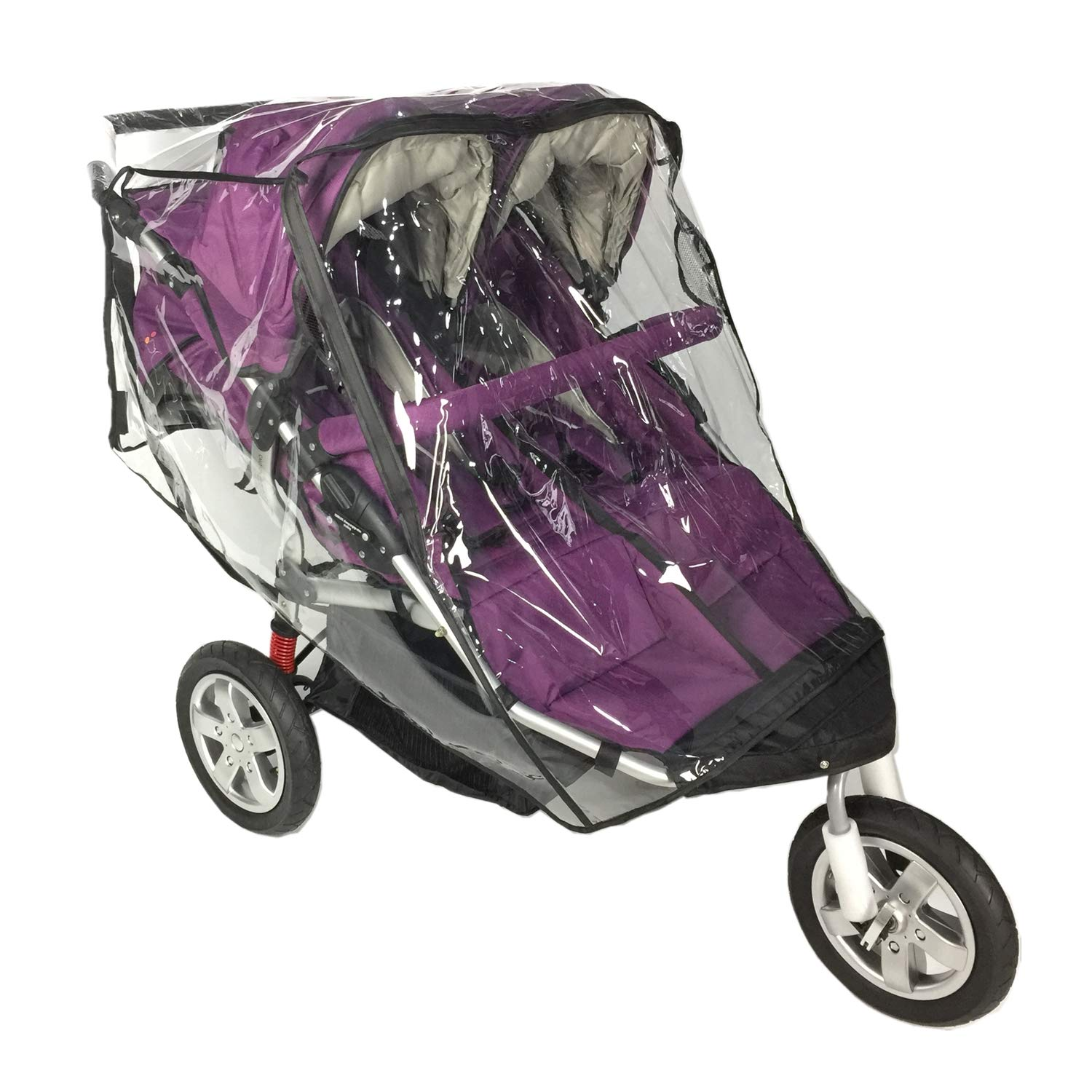Rain Cover for Double Stroller,Universal Size Weather Shield for Side by Side Double Baby Stroller. by EZTongPin