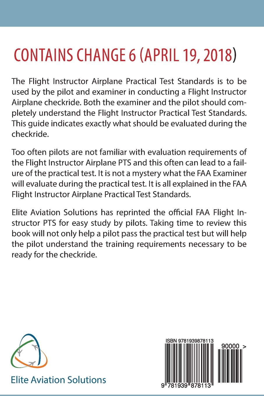 Flight Instructor Practical Test Standards For Airplane (FAA