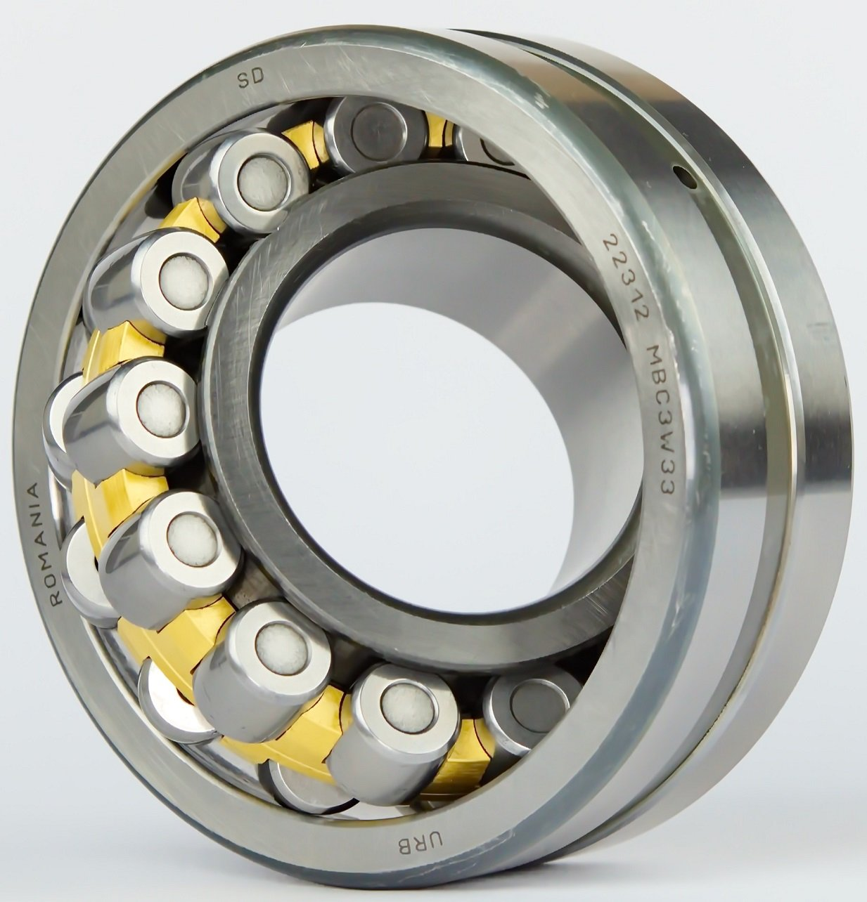 URB 22309 C3W33 Spherical Roller Bearing 36 mm Width 100 mm OD Steel Cage W33 Oil Groove 45 mm ID