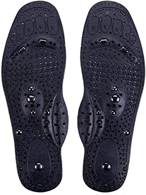 Magnetic Insoles for Men & Women, Acupressure Magnetic Massage Foot Therapy Reflexology Pain Relief Shoe Insoles Washable and Cutable (Male)
