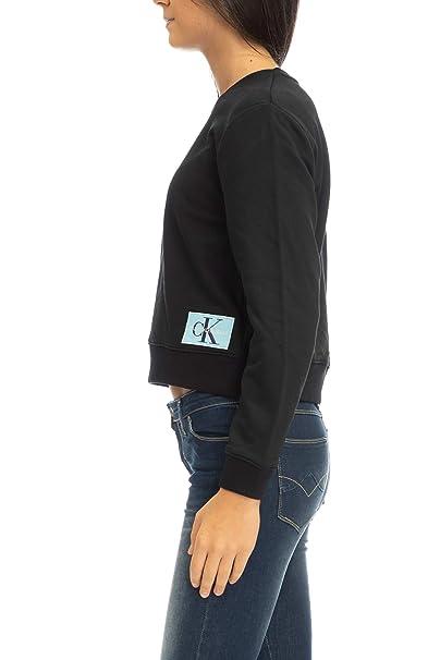 Calvin Klein J20J208047 Sudadera Mujer Negro S: Amazon.es: Ropa y accesorios