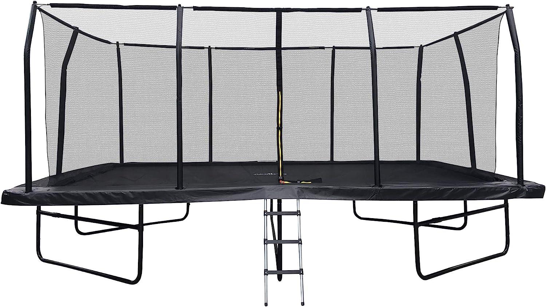 Jump4fun Gartentrampolin Rechteckig Xxxl 518 Cm X 305 Cm Modell Familie Komplettset Mit Sicherheitsnetz Schutzmatte Und Leiter Amazon De Sport Freizeit