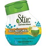 Stur® Cocotier & Ananas - 20 délicieuses portions dans chaque petite bouteille pour fabriquer plus de 4 litres de boisson. Naturels, sans sucres, sans calories, enrichis en vitamine C.