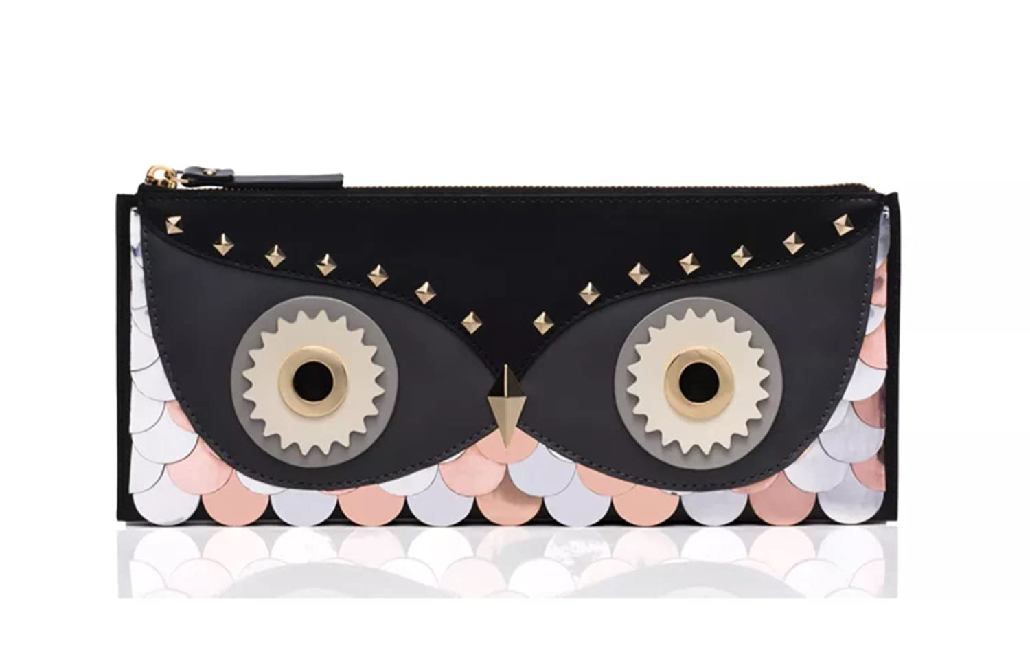 Kate Spade New York Wise Owl Clutch, Black