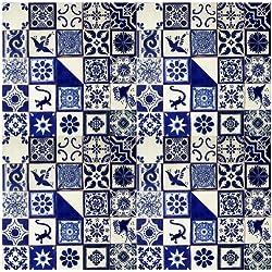 100Pintado a mano mexicano de Talavera Azulejos 10,2x 10,2cm