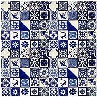 "100 Hand Painted Talavera Mexican Tiles 4""x4"" Blue & White"