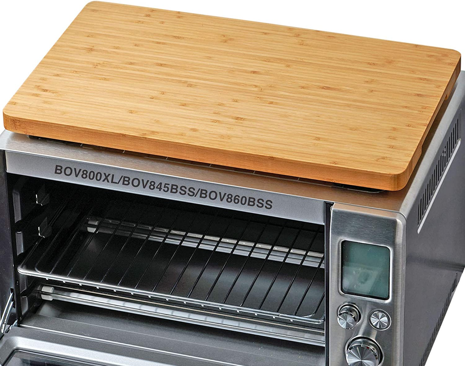 """Cutting board for Toaster Smart Oven Pro Air Fryer, Compatible with Breville BOV800XL/BOV845BSS/BOV860BSS, with Heat Resistant Silicone Feet, Creates Storage Room and Protects Cabinets, 17.8x10.8"""""""