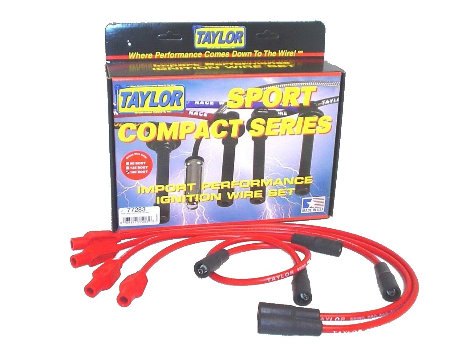 Taylor Cable 77283 Spiro-Pro Red Spark Plug Wire Set