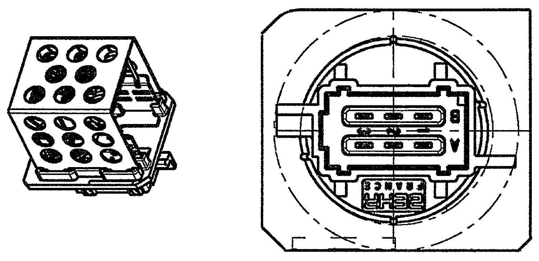 BEHR HELLA SERVICE 9ML 351 332-271 *** PREMIUM LINE *** Ré sistance, pulseur d'air habitacle pulseur d' air habitacle Hella KGaA Hueck & Co.