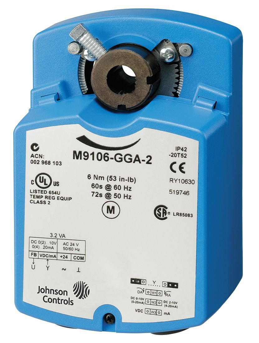 Johnson Controls M9106-AGF-2 Electric Non-Spring-Return Actuator, Floating Control with Resistive Feedback, 6 Nm Torque