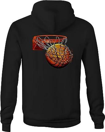 Basketball Zip Up Hoodie Half Court Shot Hooded Sweatshirt for Men