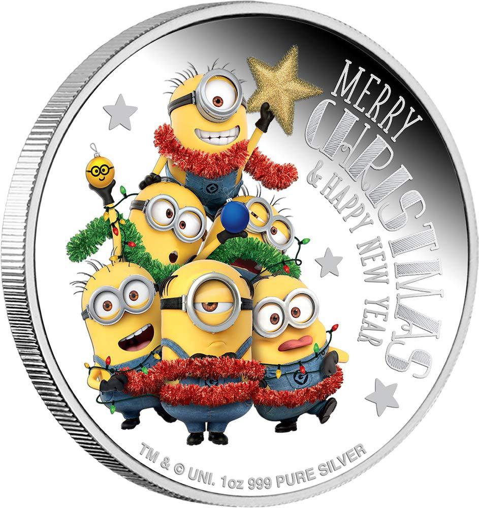 promociones Power Coin Minion Minion Minion Made Season Greetings 1 Oz Moneda Plata 2  Niue 2018  precio al por mayor