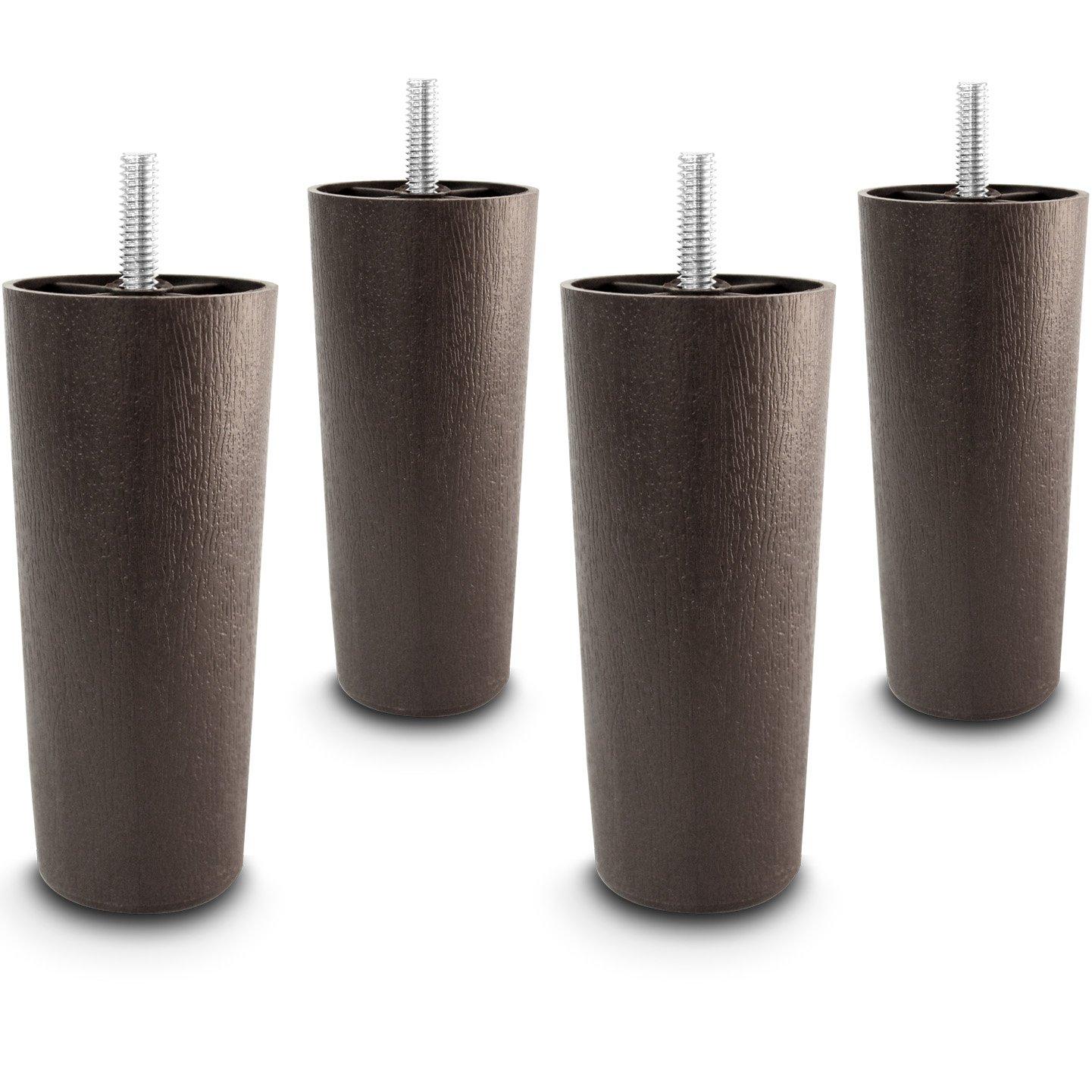 Amazon Choice Parts 5 Inch Dark Walnut Plastic Tapered Sofa
