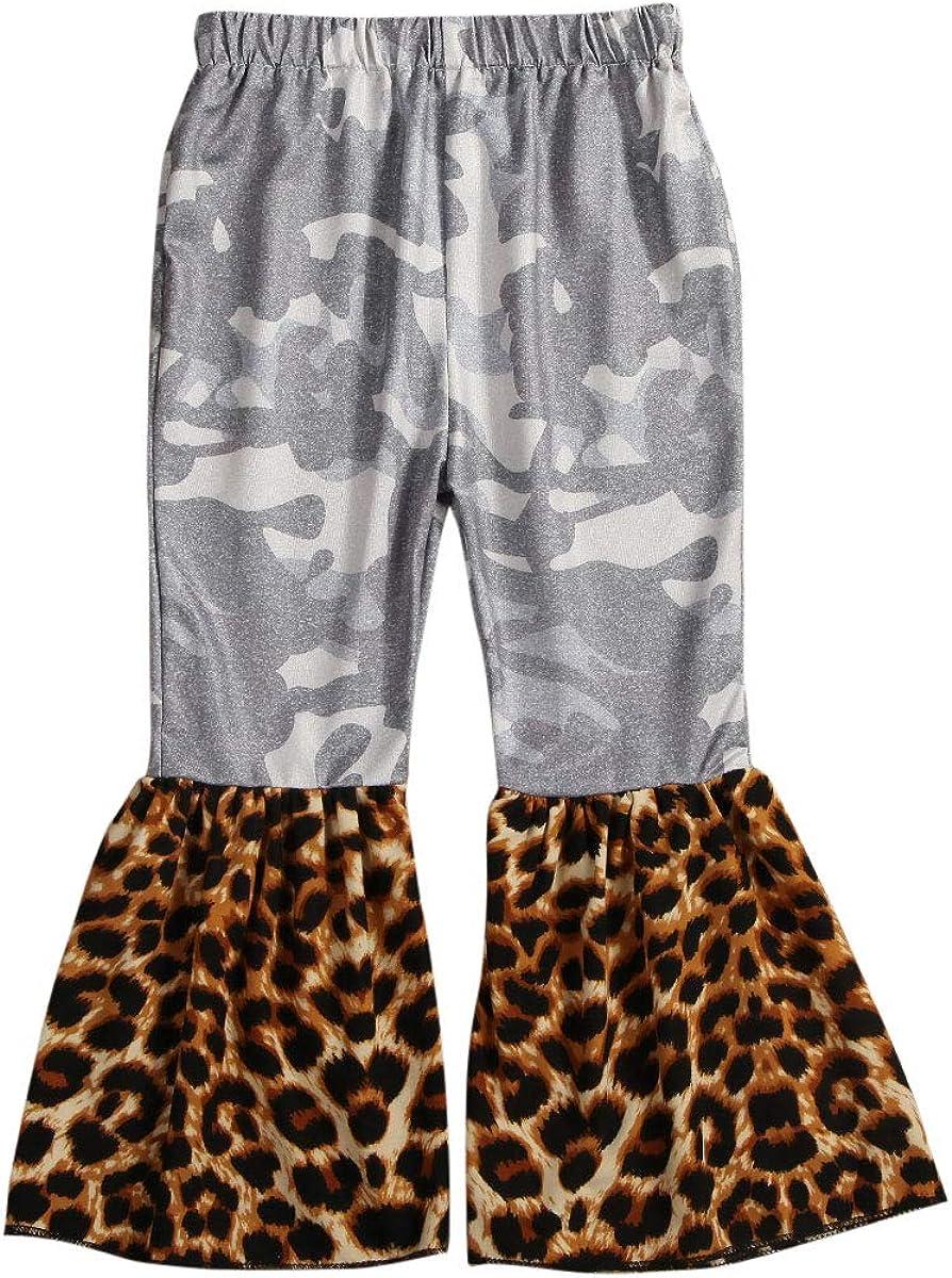 Specialcal Toddler Little Kid Girls Denim Jeans Bell Bottom Flare Pants Leggings Trousers