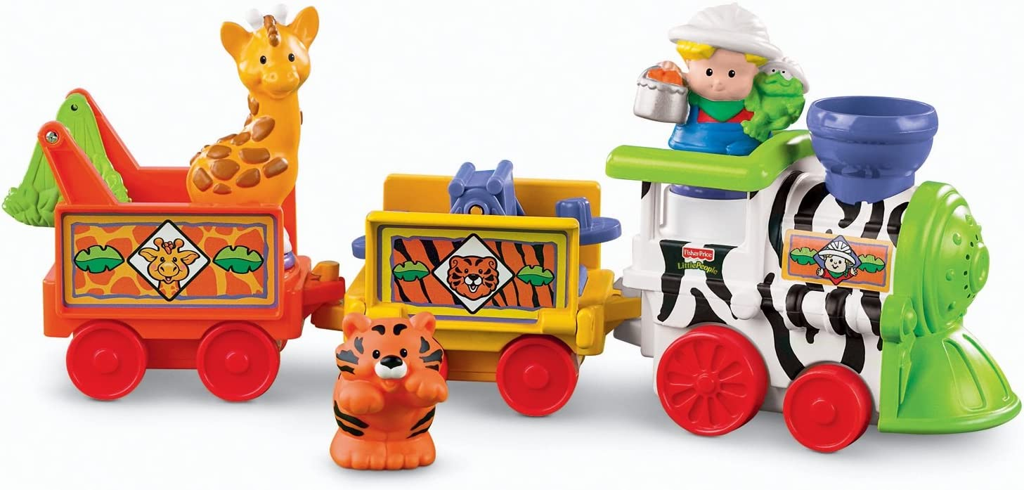 Amazon Com Fisher Price Little People Musical Zoo Train Toys Games