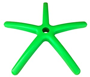 """Heavy Duty Replacement Office Chair Base - 28"""" Green Painted Aluminum - S4164-GREEN"""