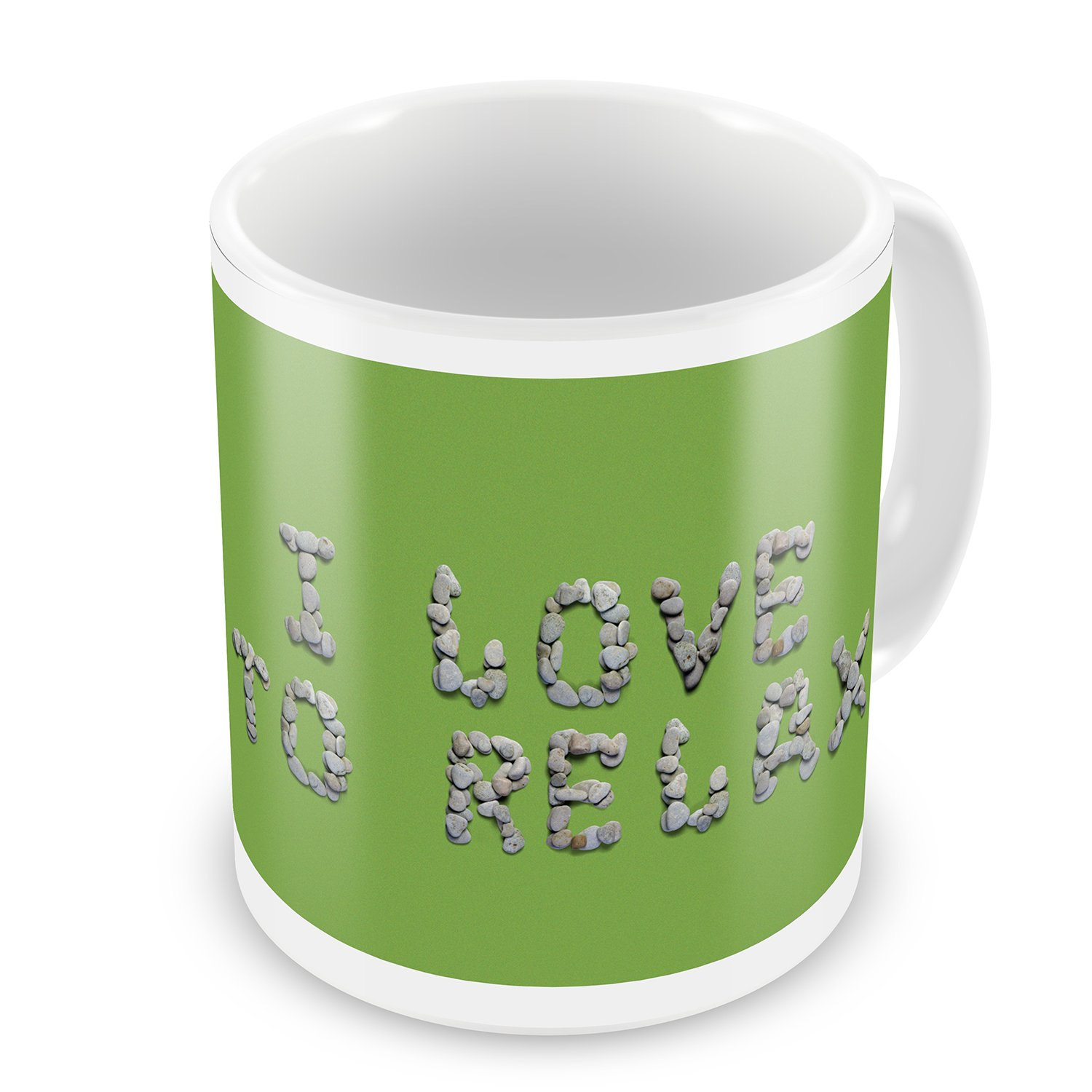 Coffee Mug I Love To Relax Spa Stones Rocks - NEONBLOND