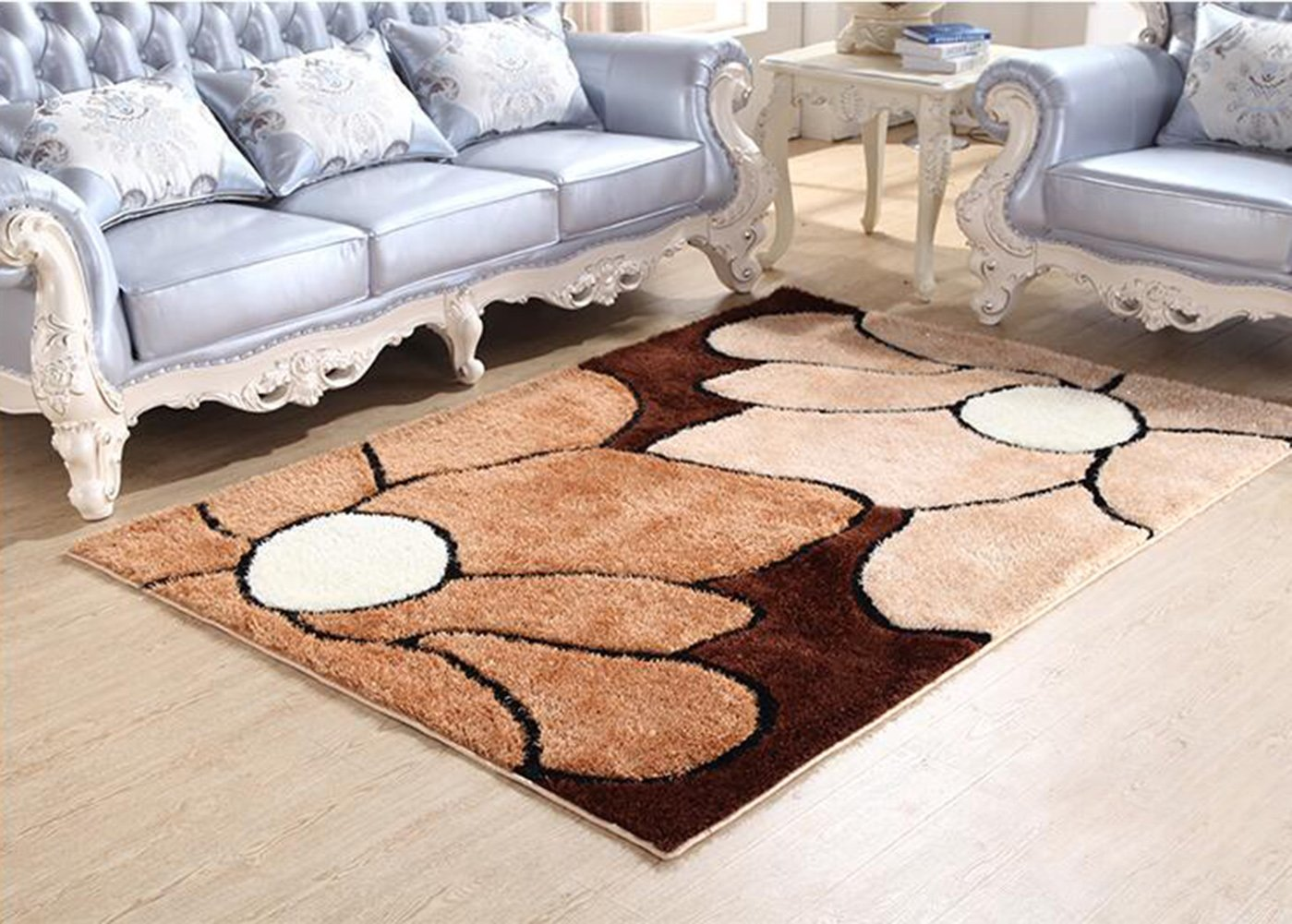 Modern Geometry Home Rugs - MeMoreCool Anti-slipping Bottom Living Room/Bedroom Carpets Thicken Design Various Patterns 63 X 91 Inch by MeMoreCool (Image #1)