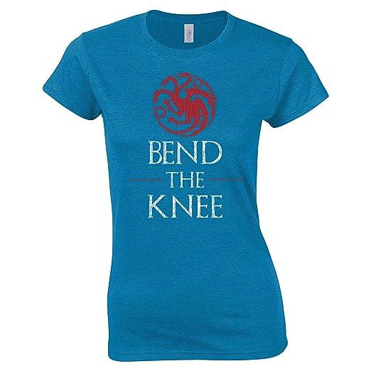 06a2c5ee9e Amazon.com: Swaffy Tees 621 Bend The Knee Funny Women's Tee Shirt ...
