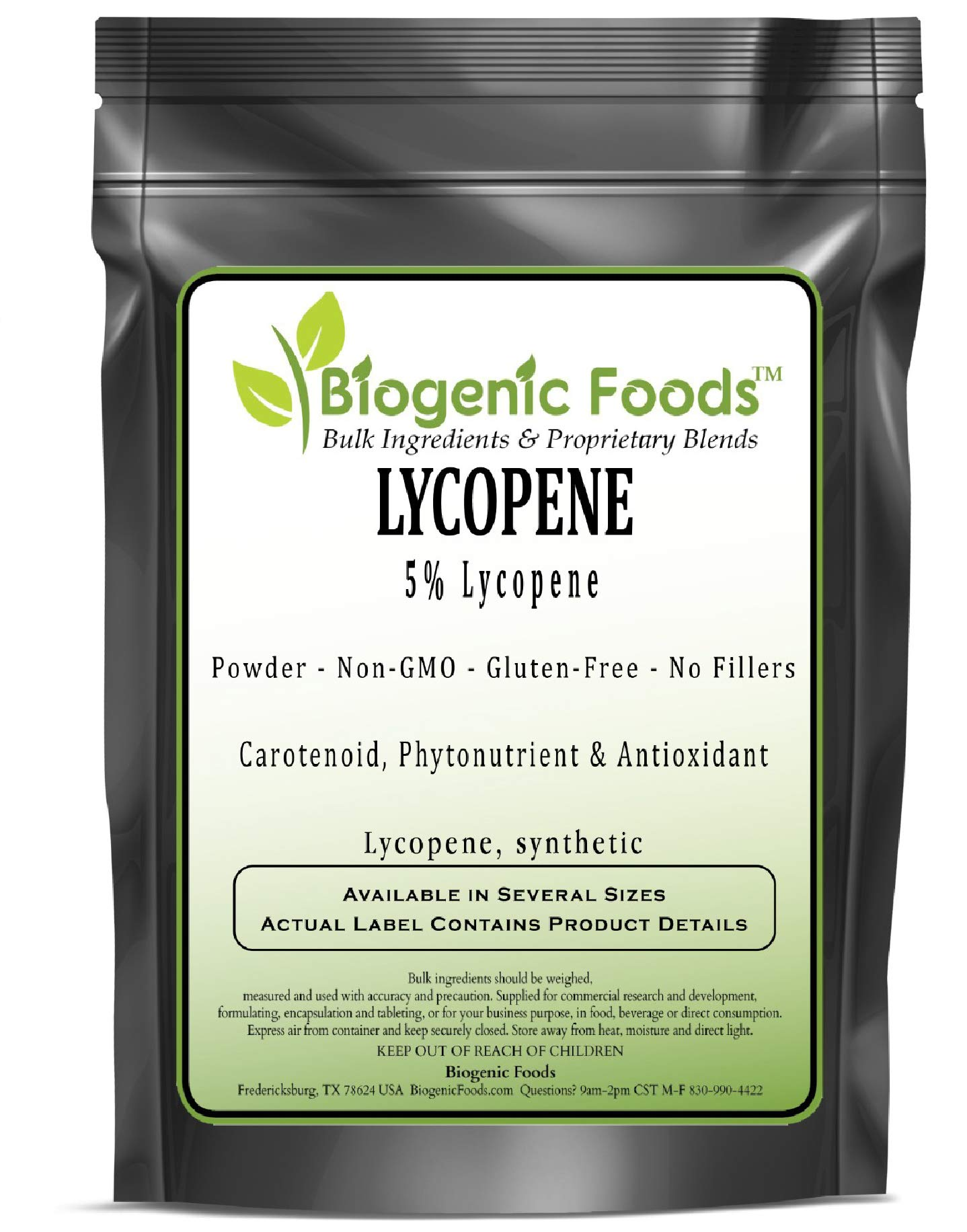 Lycopene - 5% Lycopene Powder Extract (Lycopene, Synthetic), 1 kg by Biogenic Foods
