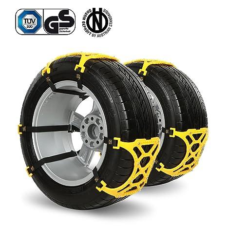 iRegro fácil de instalar neumático Cadenas nieve Cadena antideslizante, apto para la mayoría de coches