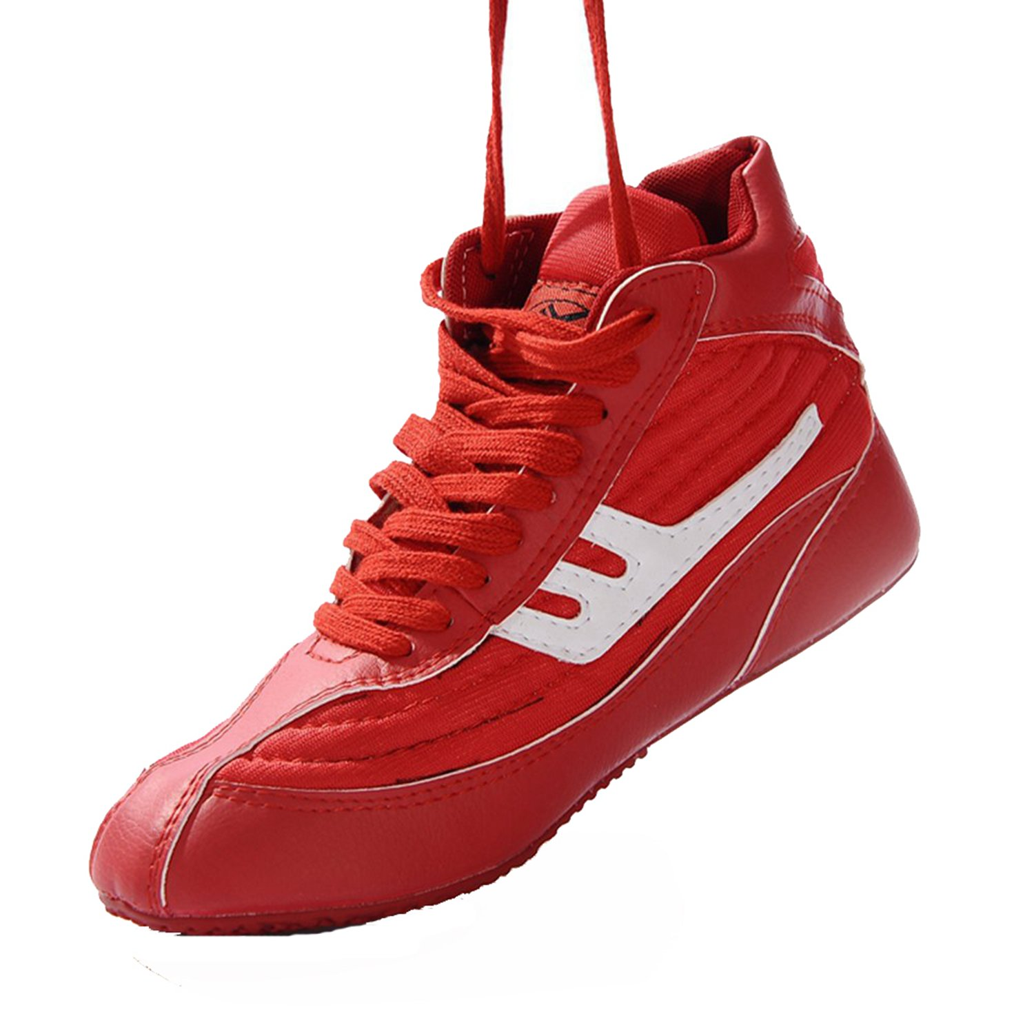 Wrestling Shoes Boxing Boots Rubber Sole Combat Training Shoes for Men&Women&Children Kids B07DB559FW 8  M US|Red