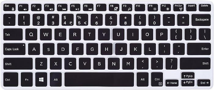 for DELL Inspiron 11.6 inch Keyboard Cover for Dell Inspiron 11-3162 11-3168 11-3169 11-3179 11-3180 11-3185 i3162 i3168 i3169 i3179 i3180 i3185 Laptop US Layout (Black)