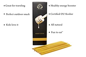 HG Luxury Honey Sticks | Pure Honey | Pack of 100 Sticks – Kosher Certified | Perfect for Gifts, Tea, Kids Snacks, Travels and Outdoors