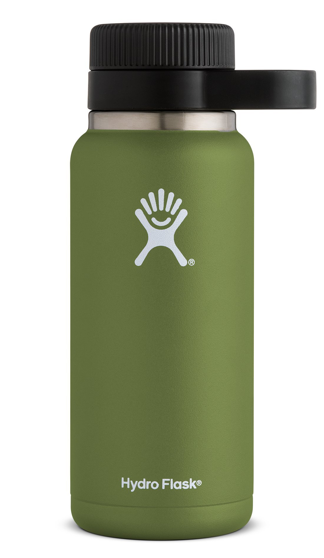 Hydro Flask 32 oz Double Wall Vacuum Insulated Stainless Steel Beer Howler, Olive