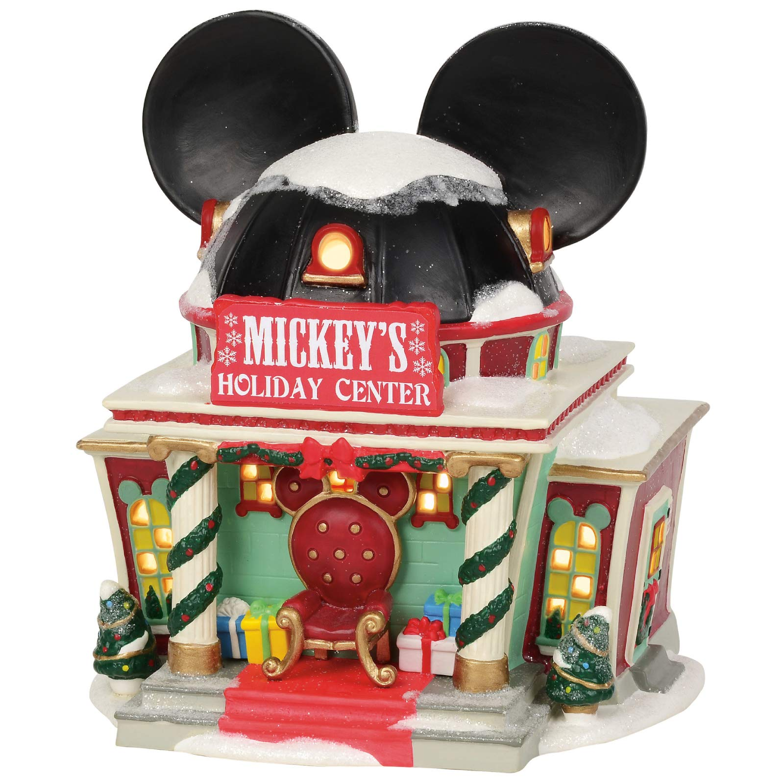Department 56 Disney Village Mickey's Holiday Center Lit Building, 7.375'', Multicolor by Department 56