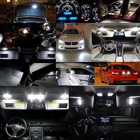 Amazon.com: WLJH 2pcs T10 194 Car LED Bulb W5W 168 2825 Cree Chips Canbus Error Free 9W Super Bright White Interior Dome Side Marker License Plate Light for ...