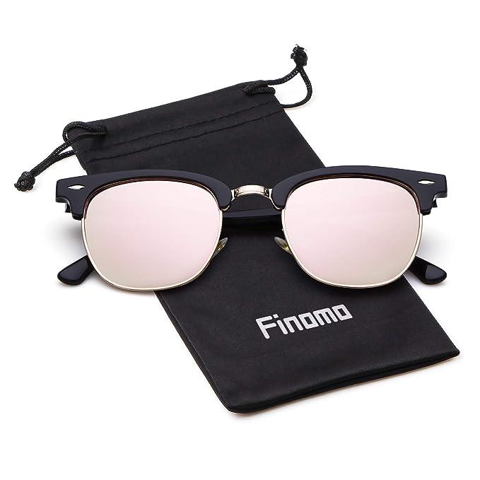Finomo Gafas de sol polarizadas de medio marco Gafas de ...