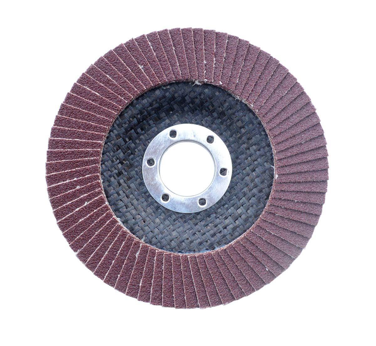 4.5inch 20pack Yansanido 20 Pack 4.5 Inch Flap Discs Grinding Wheel 40 60 80 120 Grit Sanding Discs