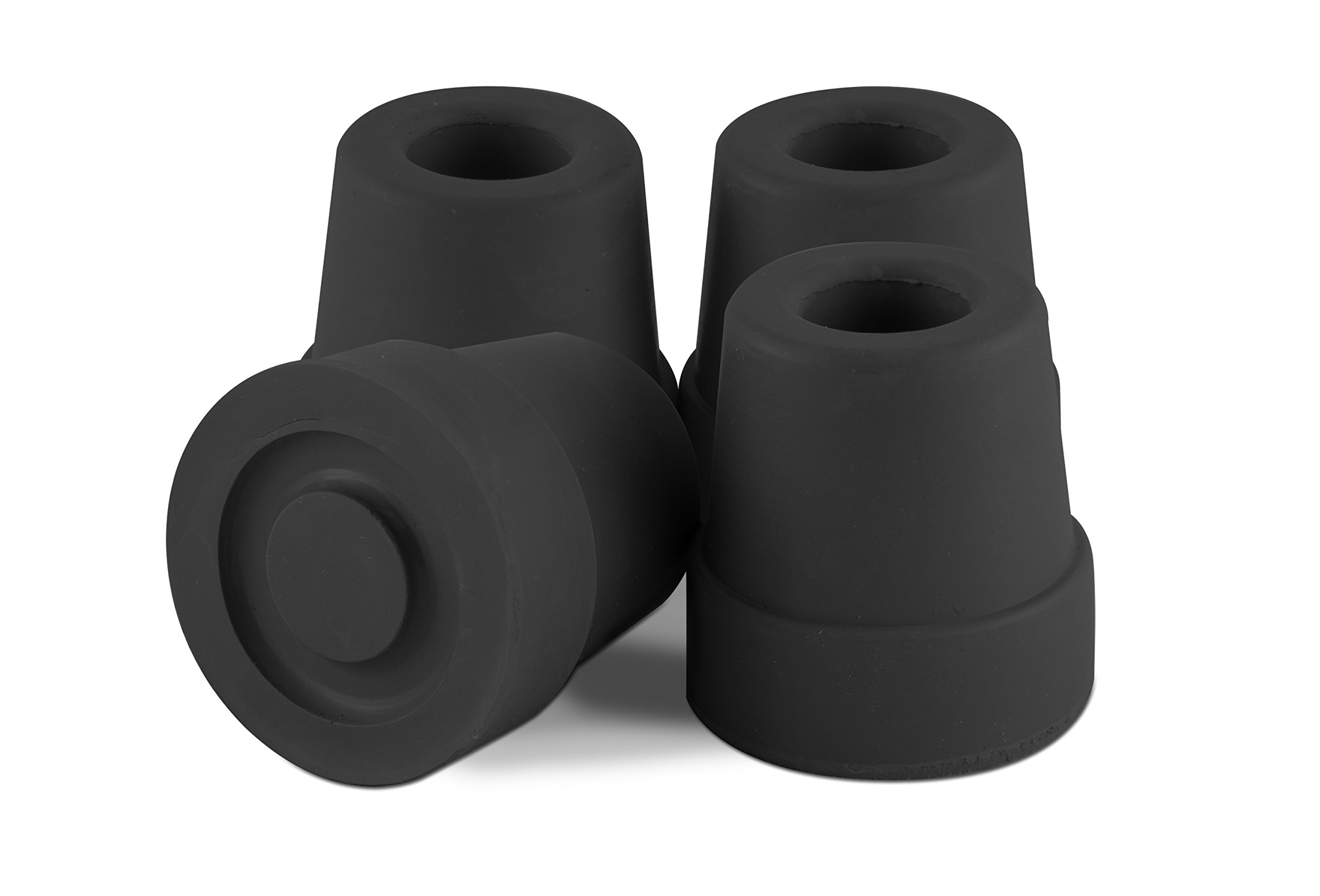 Essential Medical Supply T50012bl Quad Cane Tips, Black, 1/2 Inch