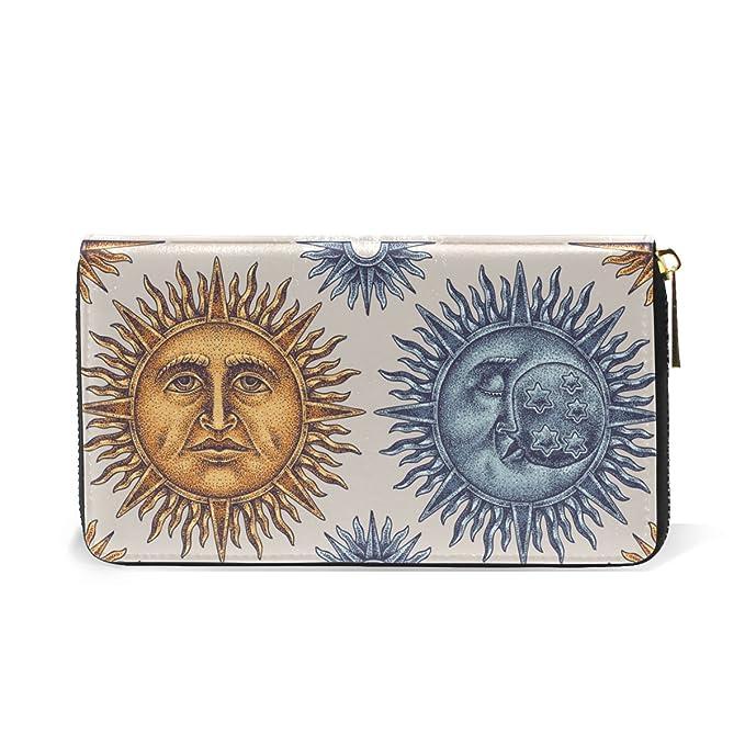 Amazon.com: ALAZA Retro Sun Moon cierre alrededor de ...