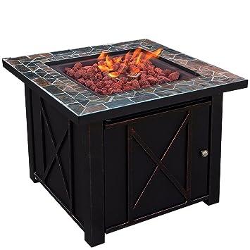 Propan Gas Fire Pit Tisch Feuerstelle Outdoor Kamin Gas ...