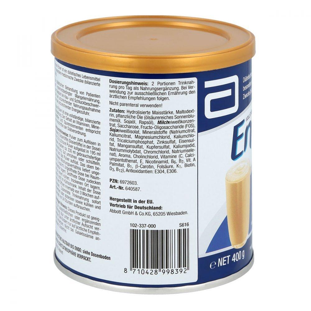 Ensure Pulver Vanille 400 G Drogerie Krperpflege Pediasure Complete Vanilla Tin Gr