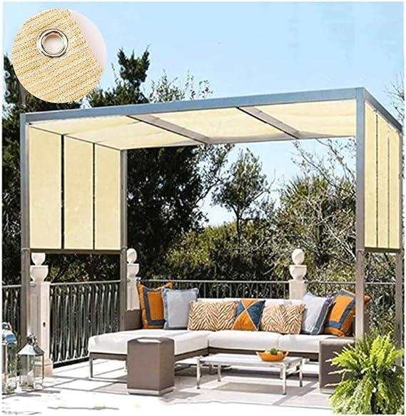 Pérgola de Sombra Lonas cenador Fuera de Vela de la Cortina Impermeable de protección Solar for el jardín/terraza/Patio/Techos/Camping rectangulares (Color : Beige, Size : 4 * 6M): Amazon.es: Hogar