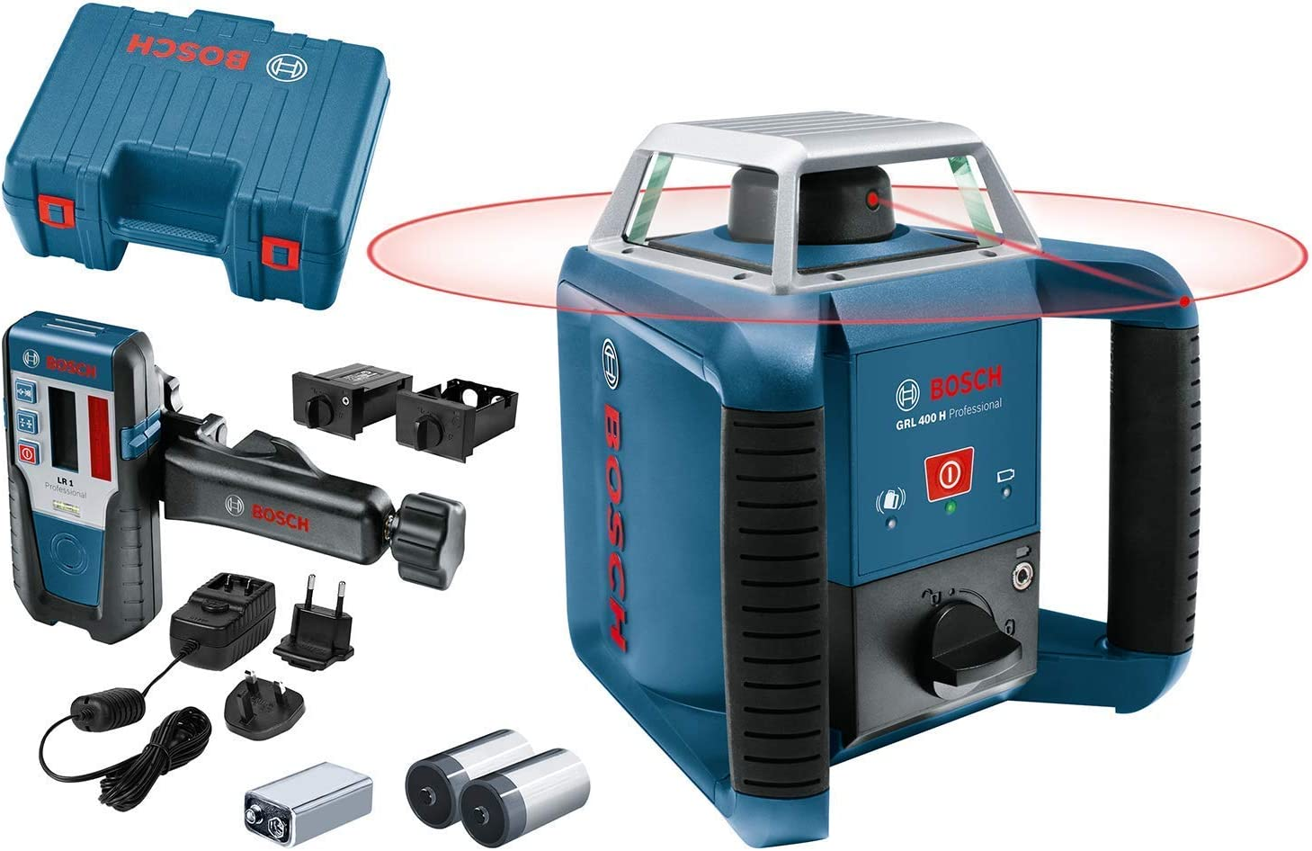Nivelador l/áser Azul Bosch GRL 250 HV Professional 60 h, 1.8 kg